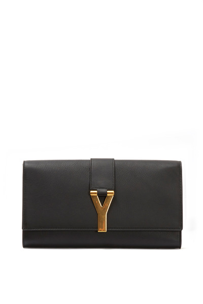 Saint Laurent - Y Ligne Black Leather Clutch