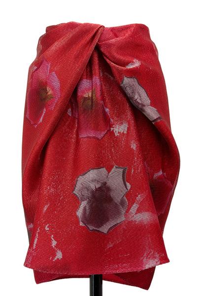 Giorgio Armani - Rose Print Knot Skirt