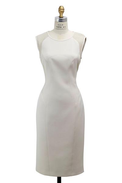 Paule Ka - Ecru Cady Dress