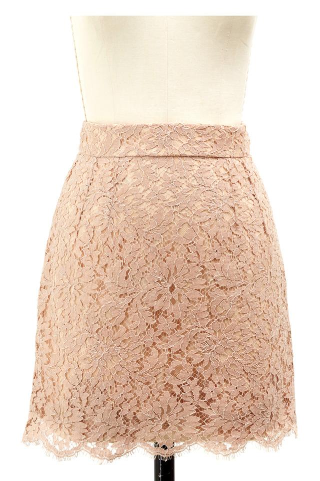 Rose Cotton & Silk Mini Skirt
