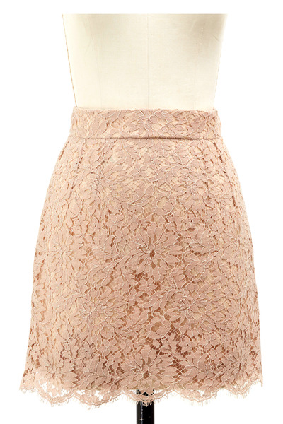 Dolce & Gabbana - Rose Cotton & Silk Mini Skirt