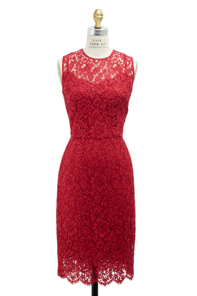 Dolce & Gabbana - Strawberry Rayon Lace Dress