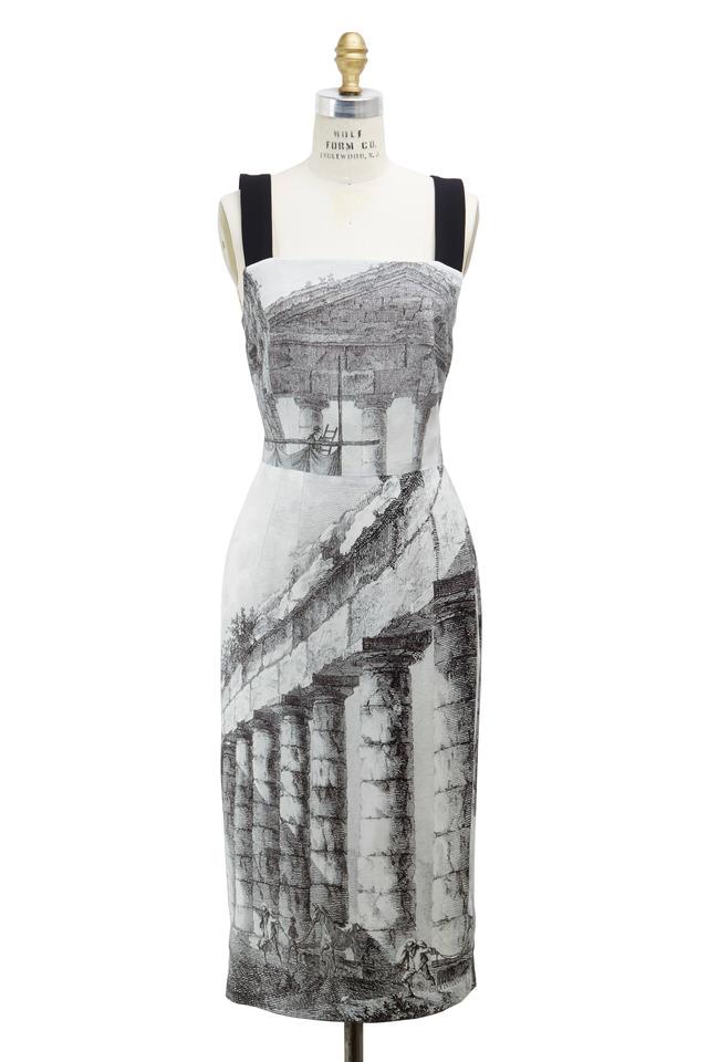 Black & White Rayon Dress