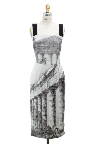 Dolce & Gabbana - Black & White Rayon Dress
