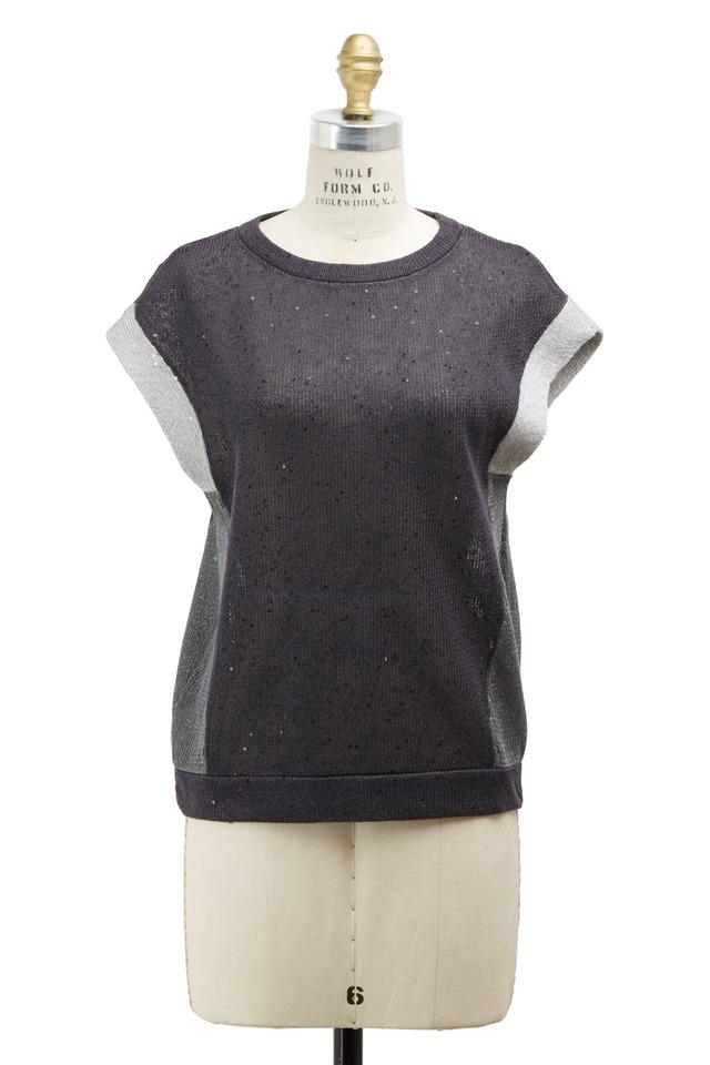 Volcano Linen & Silk Pailette Pullover