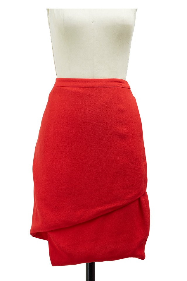 Maryse Red Viscose Skirt