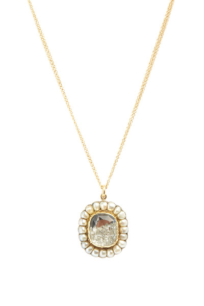 Renee Lewis - Gold Natural Pearl Diamond Shake Necklace