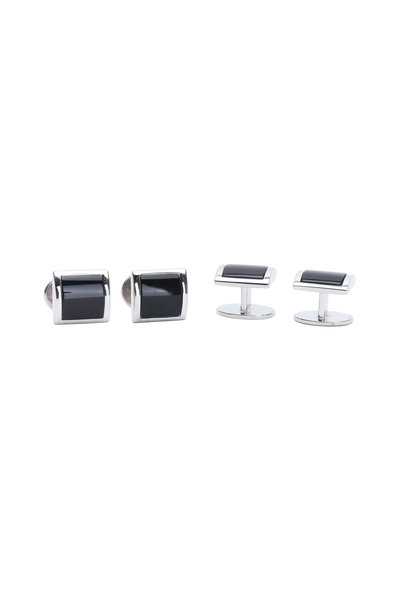 Jan Leslie - Sterling Silver Black Onyx Stud Set