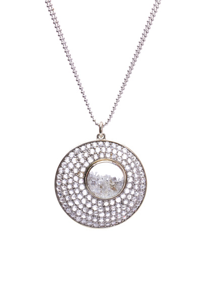 Renee Lewis - Amoeba White Gold Pavé Diamond Shake Necklace