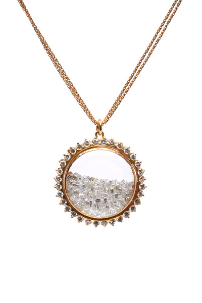 Renee Lewis - Yellow Gold Diamond Rim Shake Necklace