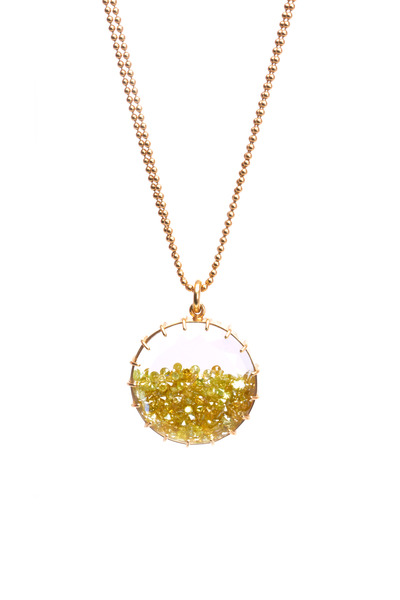 Renee Lewis - Yellow Gold Yellow Diamond Shake Necklace