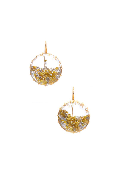 Renee Lewis - White Gold Diamond Shake Earrings