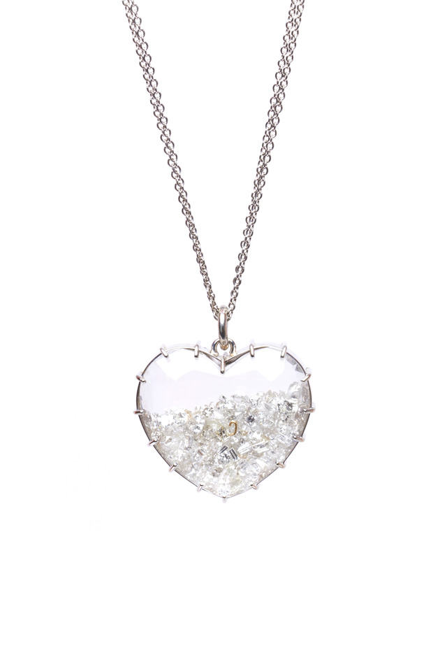 Gold Diamond Shake Heart Necklace