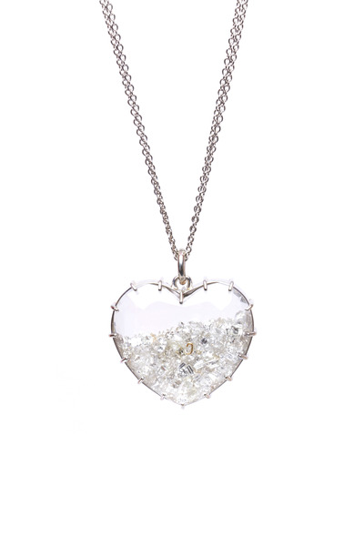 Renee Lewis - Gold Diamond Shake Heart Necklace