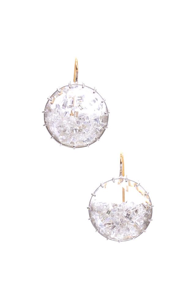 White Gold Diamond Shake Earrings