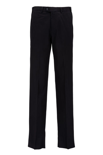 Hiltl - Dayne Black Stretch Cotton Pant