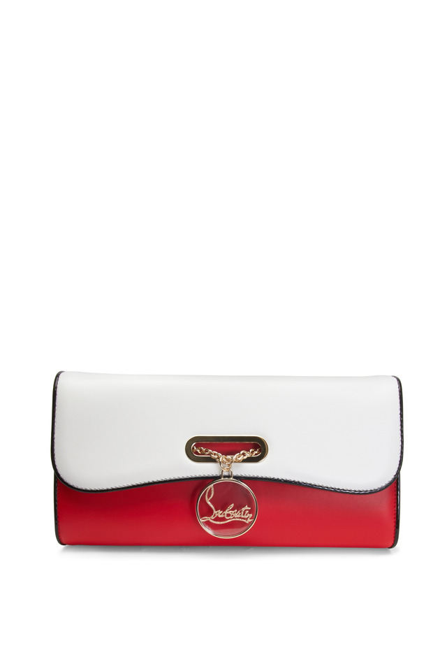 Riviera Red & White Leather Clutch