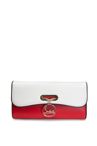 Christian Louboutin - Riviera Red & White Leather Clutch