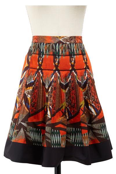 Etro - Orange Cotton Skirt