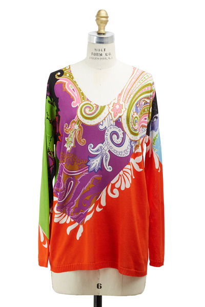 Etro - Orange Silk Sweater