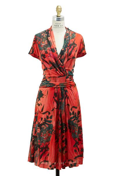 Etro - Orange Jersey Dress