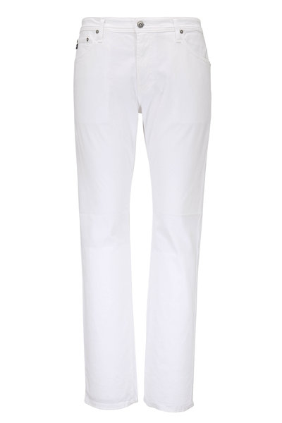 AG - Graduate White Sueded Sateen Pants
