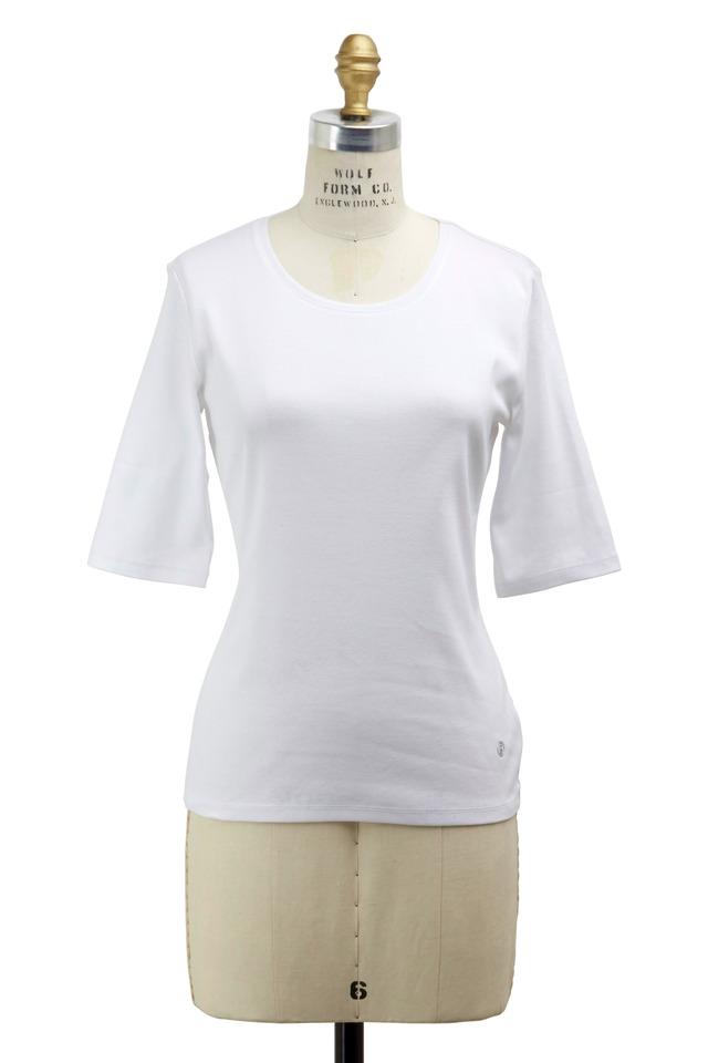 White Velvet Knit Top