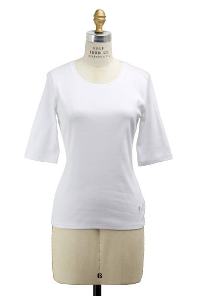 Bogner - White Velvet Knit Top