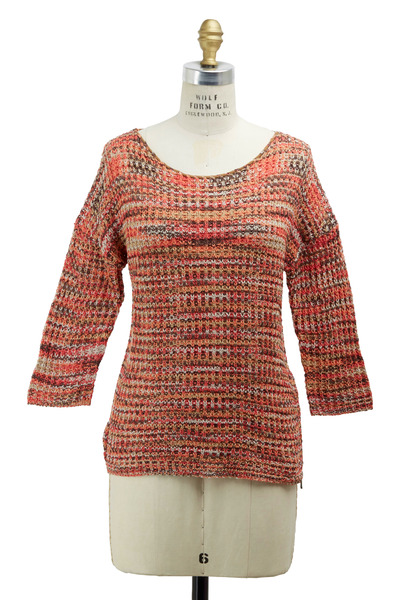 Bogner - Carolin Pink Multicolor Cotton Sweater