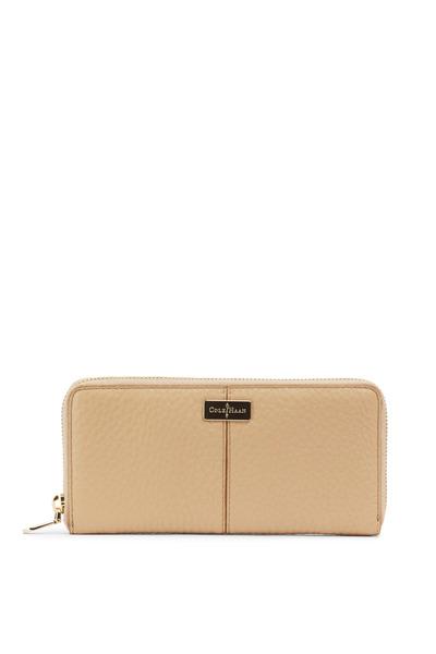 Cole Haan - Sand Leather East/West Zip Wallet