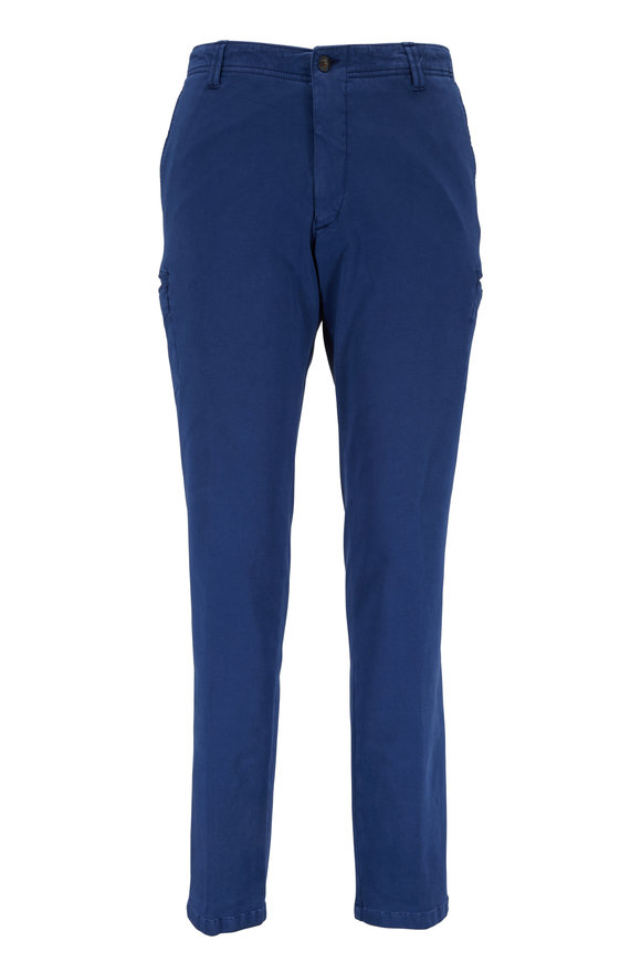 J.W. Brine New Drake Navy Blue Double Knit Cargo Pant