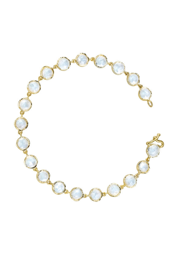 Irene Neuwirth 18K Yellow Gold Rainbow Moonstone Bracelet