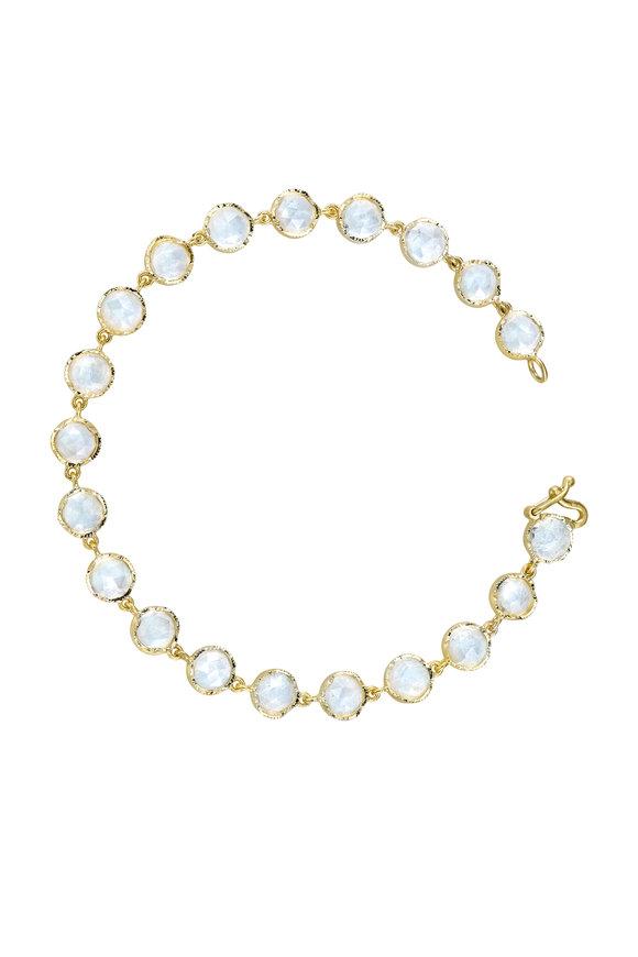 Irene Neuwirth 18K Yellow Gold Rainbow Moonstone Bracelet