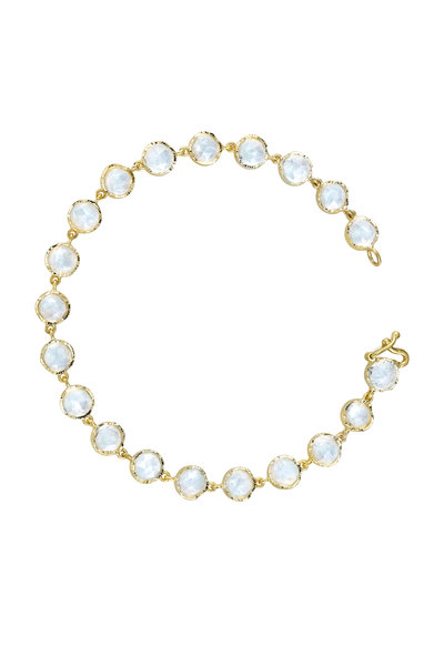 Irene Neuwirth - 18K Yellow Gold Rainbow Moonstone Bracelet