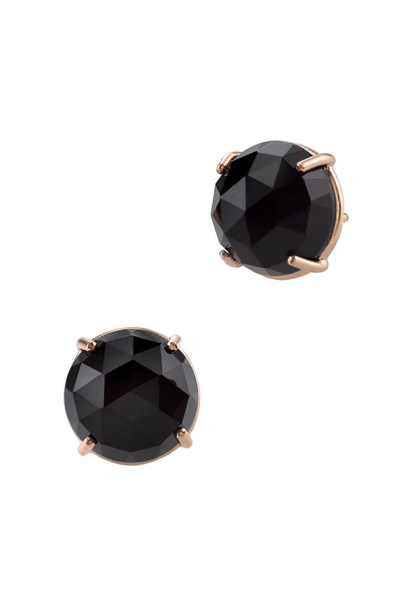 Irene Neuwirth 18K Rose Gold Onyx Studs