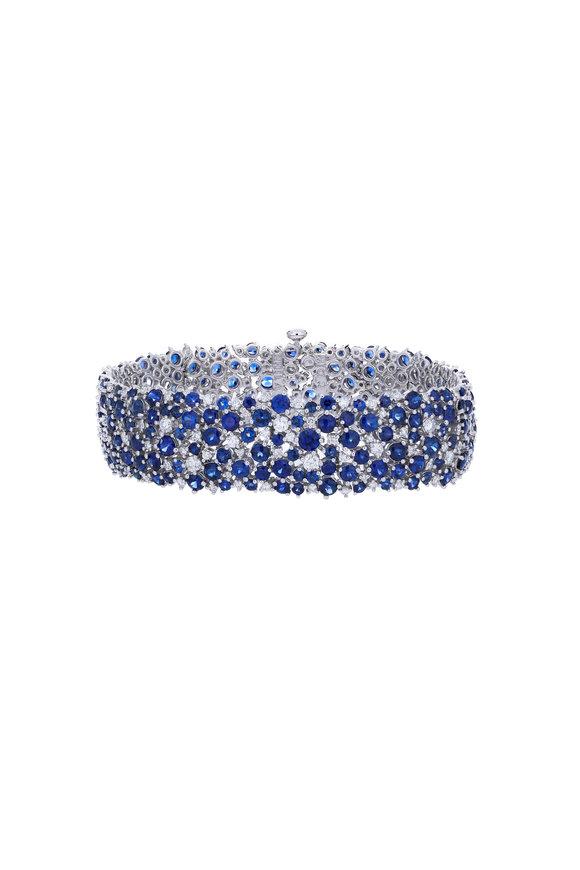 Paul Morelli 18K White Gold Sapphire & Diamond Bracelet