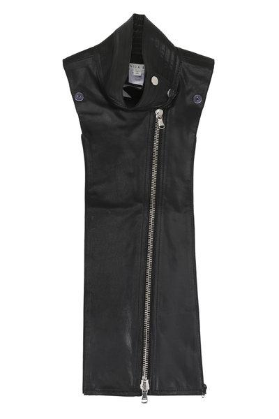 Veronica Beard - Black Leather Moto Dickey