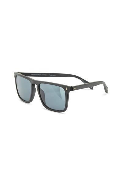 Oliver Peoples - Bernardo Black Photochromic Square Sunglasses