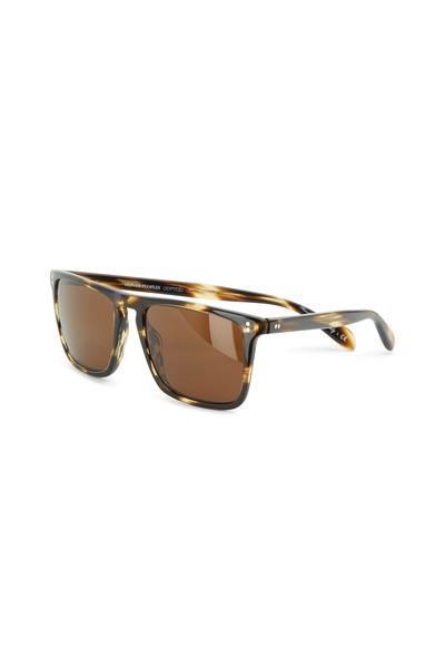 Oliver Peoples - Bernardo Coconut Java Polarized Square Sunglasses