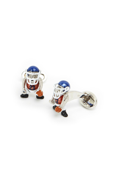 Jan Leslie - Sterling Silver Football Monkey Cuff Links
