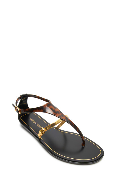 Sergio Rossi - Cleo Tortoise Jelly Flat Thong Sandals