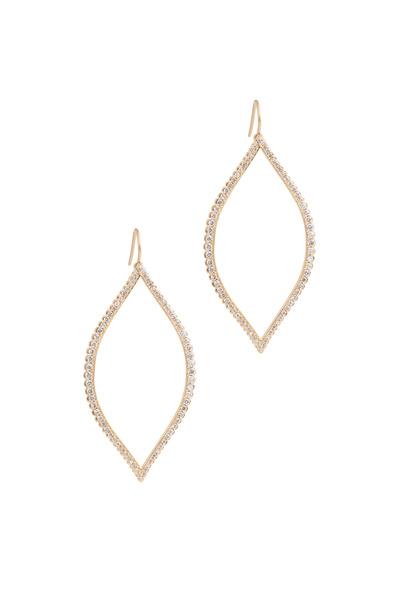 Jamie Wolf - Gold Bezel-Set Marquise Diamond Leaf Earrings