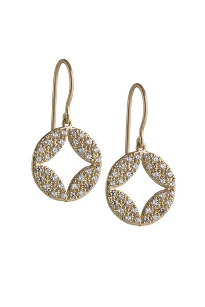 Jamie Wolf - Gold Pavé-Set Diamond Aladdin Earrings