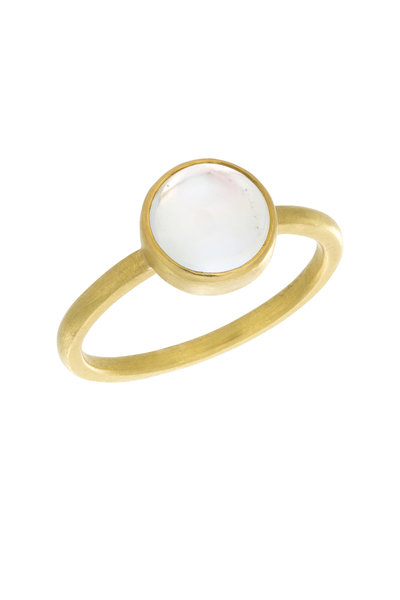 Caroline Ellen - 20K Yellow Gold Moonstone Cabochon Ring