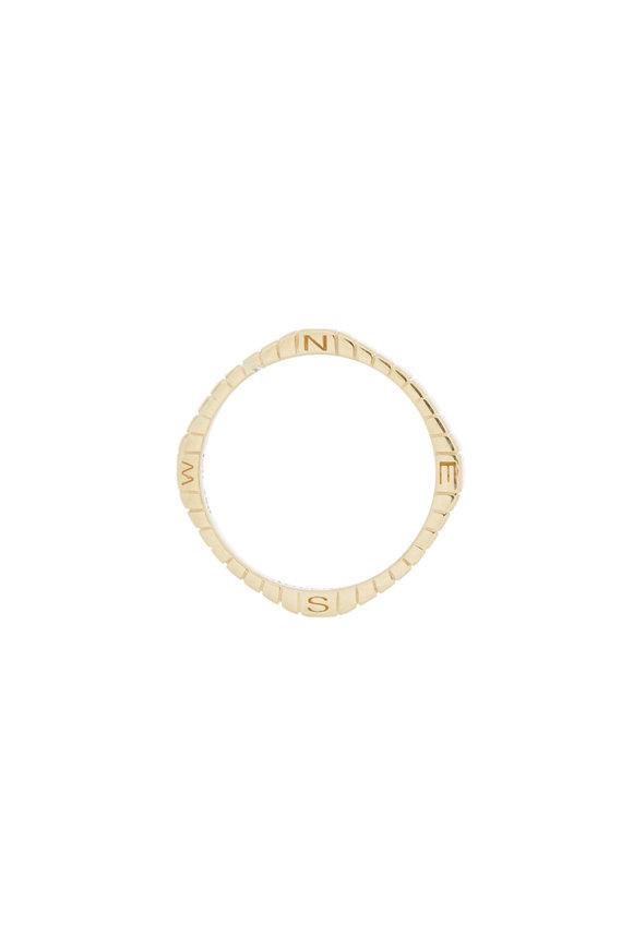 "Monica Rich Kosann 18K Yellow Gold ""Adventure"" Posey Ring"