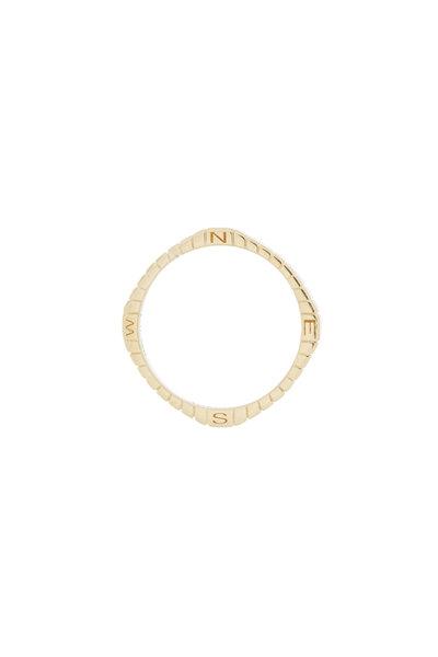 "Monica Rich Kosann - 18K Yellow Gold ""Adventure"" Posey Ring"