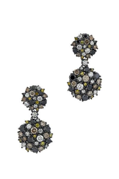 Paul Morelli - 18K White Gold & Rhodium Diamond Drop Earrings