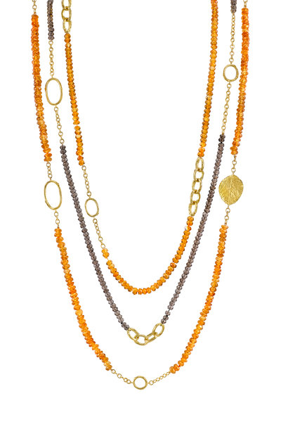 Aaron Henry - 19K Yellow Gold Hessonite Bead Necklace