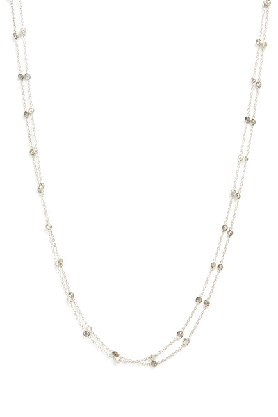 Renee Lewis - White Gold Double Chain Diamond Necklace
