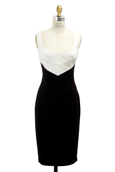 Escada - Black & White Quilted Cocktail Dress